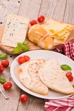Cascione italian flatbread. Royalty Free Stock Photo