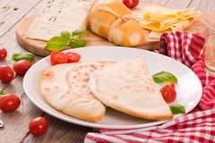 Cascione italian flatbread. Royalty Free Stock Images
