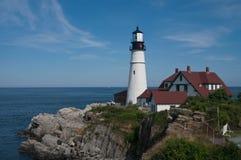 Портленд возглавляет маяк, залив casco, МЕНЯ стоковые изображения rf