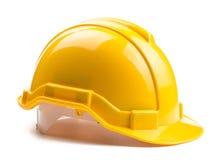 Casco amarillo de la construcción Foto de archivo