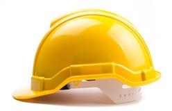 Casco amarillo de la construcción Imágenes de archivo libres de regalías