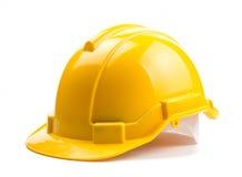 Casco amarillo de la construcción Foto de archivo libre de regalías