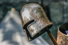 Casco antiguo de los caballeros Fotografía de archivo libre de regalías