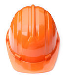 Casco arancio Immagini Stock