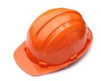 Casco arancio isolato Fotografia Stock