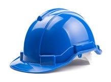 Casco azul de la construcción Imagen de archivo libre de regalías