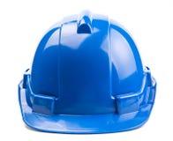 Casco azul de la construcción Imágenes de archivo libres de regalías