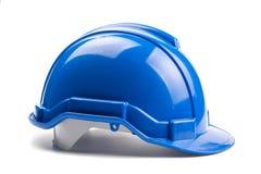 Casco azul de la construcción Fotografía de archivo