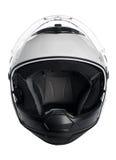Casco bianco del motociclo Immagine Stock