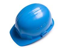 Casco blu immagini stock