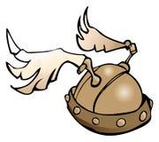 Casco con alas, ejemplo del vector Imágenes de archivo libres de regalías