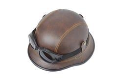 Casco de cuero marrón viejo Foto de archivo libre de regalías