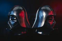 Casco de Darth Vader fotos de archivo