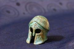 Casco de la batalla del griego clásico Fotografía de archivo libre de regalías