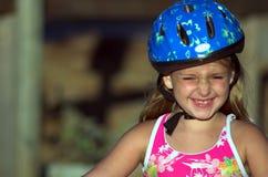 Casco de la bicicleta Fotografía de archivo