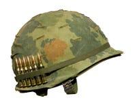 Casco de la guerra de los E.E.U.U. Vietnam Imagenes de archivo