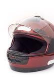 Casco de la moto Fotografía de archivo libre de regalías
