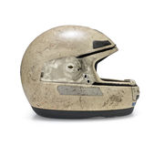 Casco de la motocicleta Foto de archivo libre de regalías