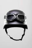 Casco de la motocicleta con los anteojos Fotografía de archivo libre de regalías