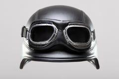 Casco de la motocicleta con los anteojos Foto de archivo libre de regalías