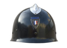 Casco de la policía imagenes de archivo