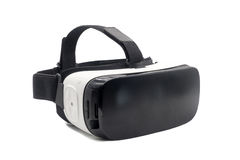 Casco de la realidad virtual aislado en blanco Imágenes de archivo libres de regalías