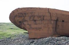 Casco de la ruina de la nave Fotos de archivo