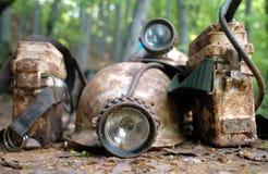 Casco de minero Foto de archivo libre de regalías