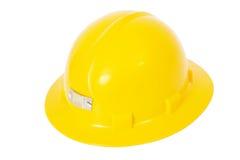 Casco de protección amarillo Sideview Fotos de archivo libres de regalías
