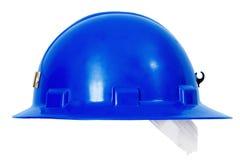 Casco de protección azul Sideview Imagen de archivo libre de regalías