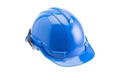 Casco de seguridad azul Imagen de archivo libre de regalías