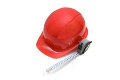 Casco de seguridad rojo Fotografía de archivo