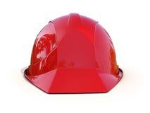 Casco de seguridad rojo ilustración del vector