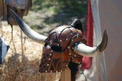 Casco de un guerrero medieval Imágenes de archivo libres de regalías