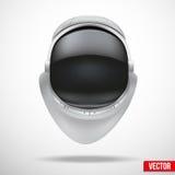 Casco del astronauta con vector del vidrio de la reflexión. ilustración del vector