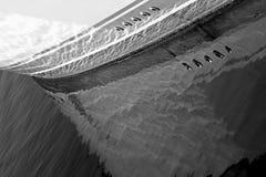 Casco del barco de la fibra de vidrio fotografía de archivo