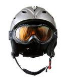 Casco del esquiador con los anteojos Imagenes de archivo