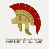 Casco del gladiador, legionario romano - vector Imagen de archivo libre de regalías