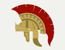 Casco del gladiatore, legionario romano - Immagine Stock