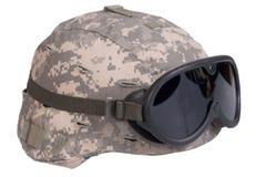 Casco del Kevlar dell'esercito americano Fotografia Stock