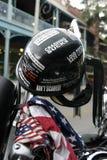 Casco del motociclista Immagini Stock