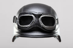 Casco del motociclo con gli occhiali di protezione Fotografia Stock Libera da Diritti