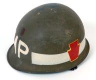 Casco del mp di guerra M1 degli Stati Uniti Vietnam Fotografia Stock