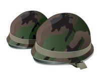 Casco dell'esercito americano Su fondo bianco Immagini Stock Libere da Diritti