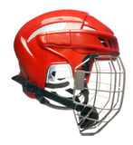 Casco dell'hockey isolato Fotografie Stock