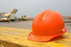 Casco della costruzione Fotografia Stock