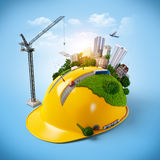 Casco della costruzione. Fotografie Stock
