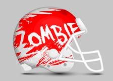 Casco della squadra di football americano Immagini Stock