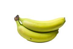 Casco di banane isolato su fondo bianco Fotografia Stock Libera da Diritti