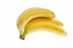 Casco di banane su fondo bianco immagine stock libera da diritti